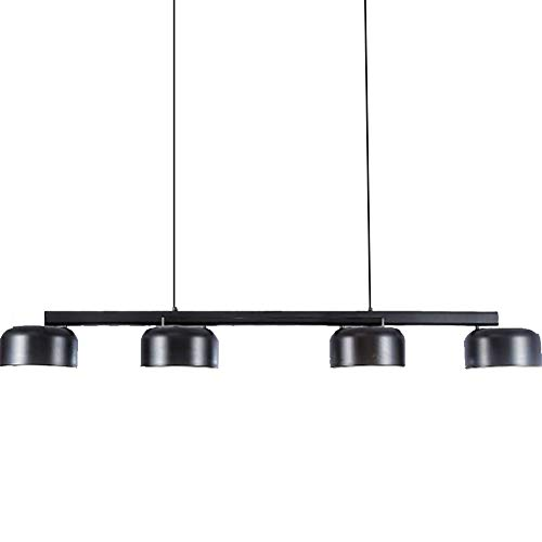 CHRISTMAD Geschenk Pendelleuchte Deckenleuchten Eisen Postmodern Einfache Drehbare 220 V Studie Bar Cafe Kronleuchter E27 Warmweiß Licht Innenbeleuchtung,Black-140cm