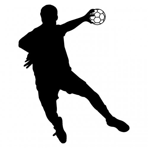 Autoaufkleber Handballspieler Fallwurf Aufkleber in 8 Größen und 25 Farben (10x8cm schwarz)