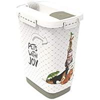 Rotho 4002110536 Aufbewahrungsbox für Tierfutter aus Kunststoff (PP) - 10 l, S, anthrazit/weiß
