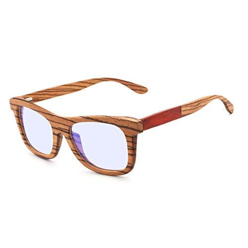 Blaulichtfilter Computerbrille zum Blockieren von UV-Kopfschmerzen Anti-Augenermüdung Vintage Brillen Unisex Vintage Bambus Sonnenbrille