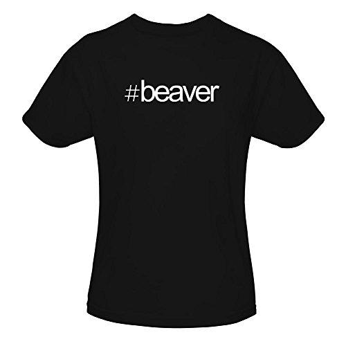 Idakoos Hashtag Beaver - Tiere - Mädchen T-Shirt (Lustige Beaver T-shirt)