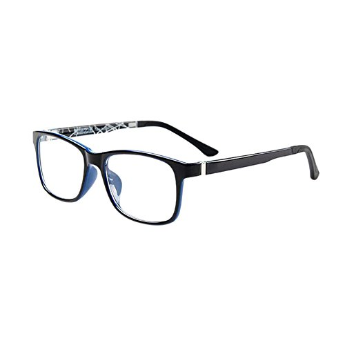 Haodasi Nouveau Ultra léger Lunettes optiques Clair Lentille Plein Cadre Élastique Lunettes Black Blue