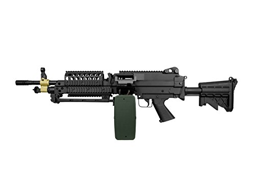 A&K MK46 Vollauto Softair / Airsoft Light Machine Gun Maschinengewehr -schwarz- < 0,5 Joule (Air Machine Gun)