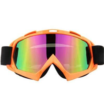 Gaodaweian Motorradbrillen Motocross Xinxun Sportbrillen Reitbrillen UV-Nebelschutz Winddicht Schutzbrillen für Outdoor-Ski Motorschlitten Fahrrad Motorrad Reiten im Freien (Color : Orange)