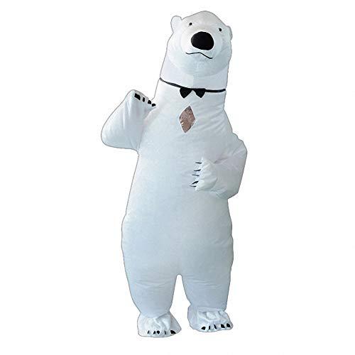 Lustige Kostüm Eisbär - Sunny Aufblasbares Halloween-Abendkleid-Eisbär-Kleidungs-Cosplay-Kostüm,Lustige Neuheit Cosplay für Halloween und Party Games