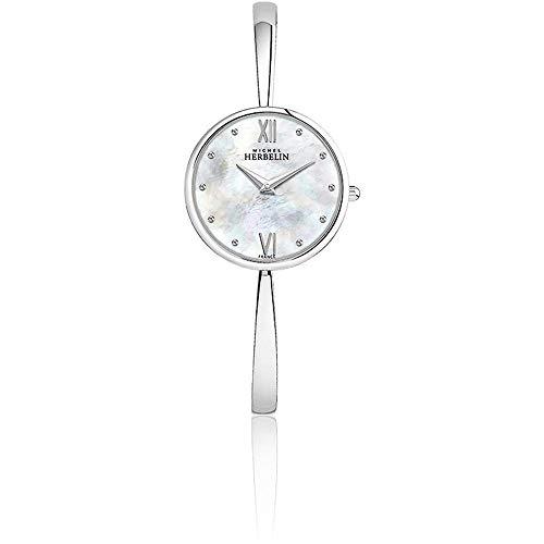 Michel Herbelin Femme 31mm Bracelet Acier Inoxydable Quartz Montre 17418/B19