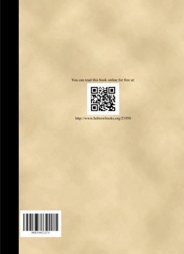 Sefer Damesek Eliezer - Volume 6 por Eliezer Tzvi Sapirin