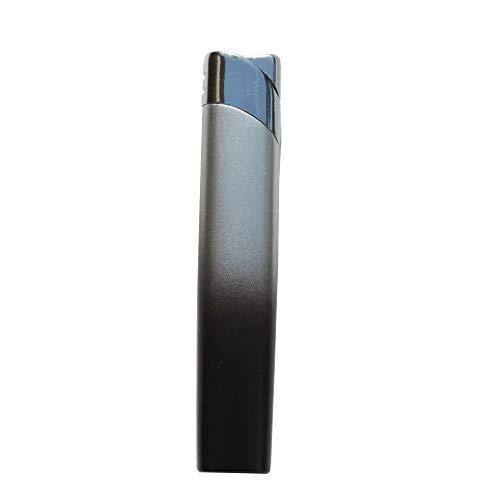 GravUp: Schmales Gas-Feuerzeug (anthrazit) mit SOFORTGRAVUR +VORSCHAU: Gravur auf der Vorderseite (Gasfeuerzeug nachfüllbar)
