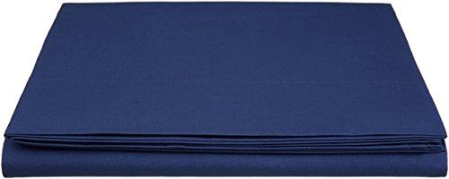 AmazonBasics \'Everyday\' Bettlaken aus 100{b8ea5e2c5d6a4bc8367b4fbbe2d598dea423d999ebf3bd4466a0fa0d19b6ed34} Baumwolle, 180 x 290 cm - Marineblau