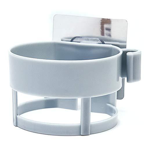 WEINANA Multi Function Plastic Hair Dryer Rack Storage Sucker Bathroom Gadget Holder Racks Durable Hairdryer Support Wall Shelf Gadget-rack