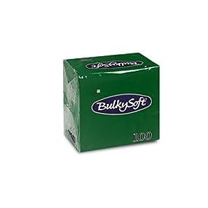 Bulky Soft BS-32640 Servietten 1/4 Falz, 2-lagig, 24 cm x 24 cm, Grün (100-er Pack)
