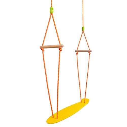PIAOLING Indoor- und Outdoor-Skateboard-Spielzeuge für Kinder hängen Starke Plastikschaukel (Color : Yellow)