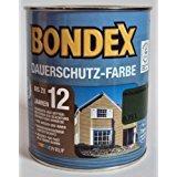 Bondex Dauerschutzholzfarbe, Wetterschutzfarbe Farbton Frühlingsgrün 2,25 Liter