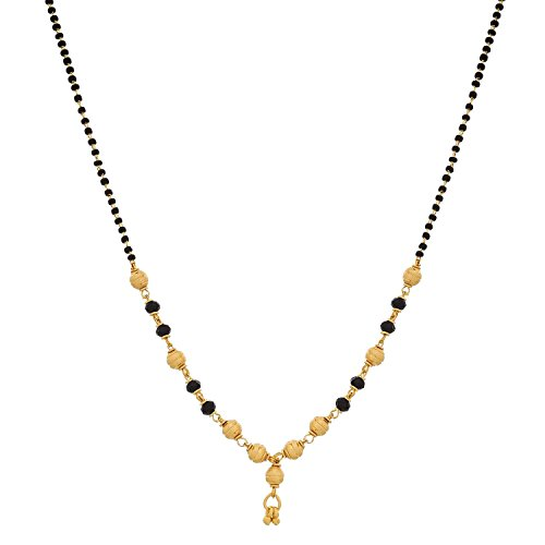 Youbella Gold Plated Mangalsutra Pendant Necklace With Chain For Women