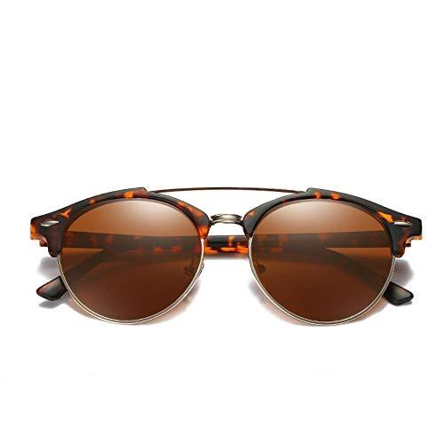 Sonnenbrille Ray Marke Luxus Designer Polarized Aviation Runde Sonnenbrille Männer Vintage Retro Brille Frauen Fahren Metall Brillen Leopard Kaffee
