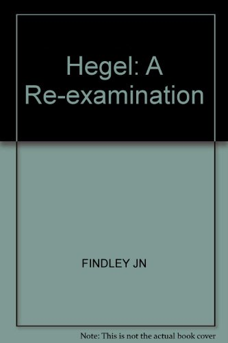 Hegel - A Re-Examination. [Muirhead Library of Philosophy]. Allen & Unwin. 1970.