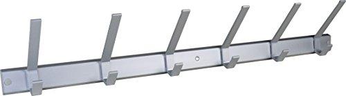 Haken hochwertige Garderobenleiste Hakenleiste Kleiderhaken Aluminium mit 6 Haken 690 x 40 mm = 3433