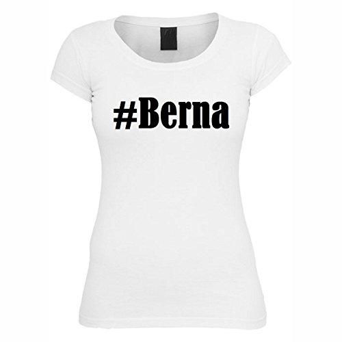 T-Shirt #Berna Hashtag Raute für Damen Herren und Kinder ... in den Farben Schwarz und Weiss Weiß