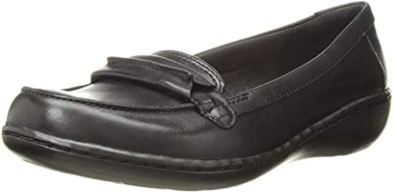 Clarks Wouomo Ashland Ashland Ashland Lily Loafer, nero Leather, 85 M US | Distinctive  2b7401
