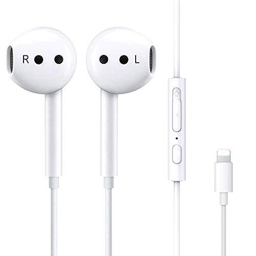 Luvfun Precision In-Ear Sport Kopfhörer, Wasserdicht Kopfhörer mit Mikrofon, Audio Stereo magnetischer Kopfhörer Langlebig,Kopfhörer für iPhone 7/7 Plus / 8/8 Plus/X/XS/XS Max - Weiß