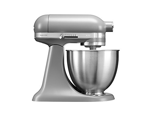 KitchenAid 5KSM3311XEFG, 3,3-L-Mini-Küchenmaschine mit kippbarem Motorkopf, MATTE GREY