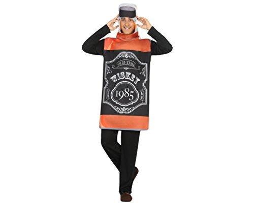 Atosa 18202 - Whisky-Flasche, Herrenkostüm, Größe M-L, (Krankenschwester Kostüme Hund)