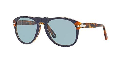 Ray-Ban Herren 0PO0649 Sonnenbrille, Schwarz (P.Galles Blue), 52.0