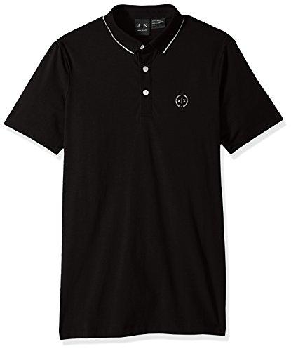 Armani Exchange Herren 8NZF70 Poloshirt, Schwarz (Black 1200), One Size (Herstellergröße: S)
