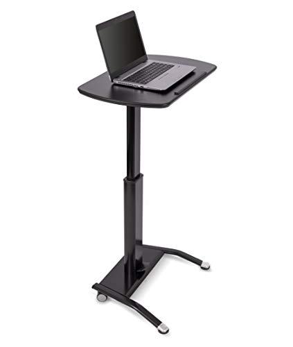 Stand Up Desk Store Pneumatisch verstellbares Rednerpult (Schwarz) -