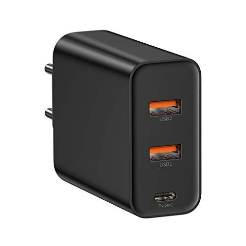 Mumuj 60W 2-Port USB Ladegerät, USB Ladeadapter Netzteil mit PowerIQ-Technologie Schnellladegerät für iPhone, iPad, iPod, Samsung Galaxy, Nexus, HTC, Motorola, LG und mehr EU (Schwarz) Schwarz Ipod Netzteil