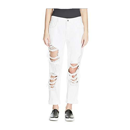 Guess Pantalones Vaqueros para Mujer Boy Fit Color Blanco W31 Talla nica Talla nica Blanco 31 W