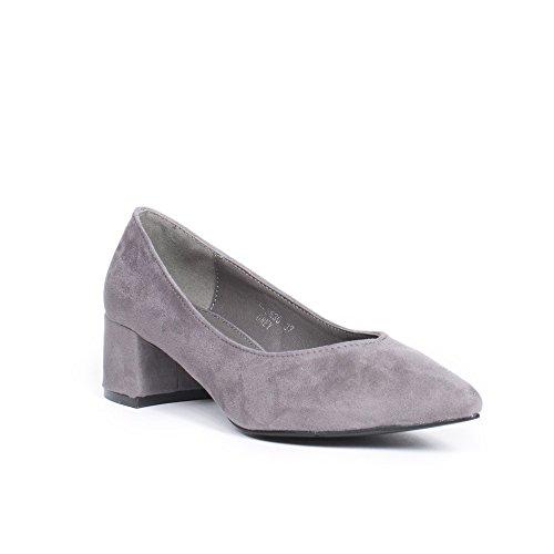 Bout Escarpins Ideal Effet Laila Gris Shoes Frvoaowq Daim Pointu À q7HEZx