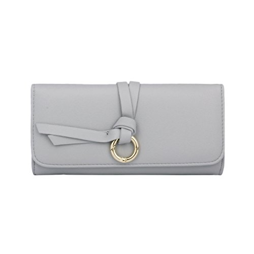 damara-womens-long-purse-id-card-holder-coins-snap-pu-walletlight-grey