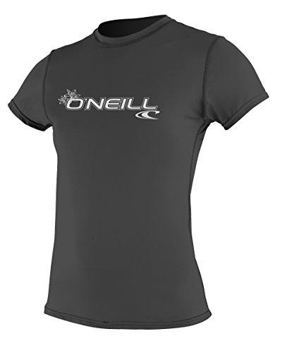 O 'Neill Neoprenanzug Damen Basic Skins UPF 50+ Short Sleeve Sun Shirt, Damen, 3547-Black-Xsmall, Schwarz, xs