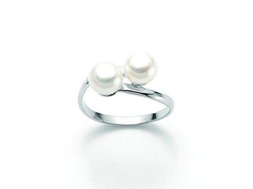 Anello Miluna con Perle in oro bianco PLI947X