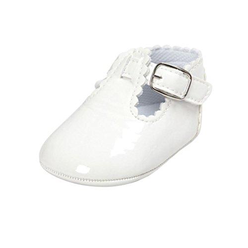 Logobeing Bebe Niñas Zapatos de Vestir Antideslizante Suela Blanda Primeros Pasos para Recién Nacido...