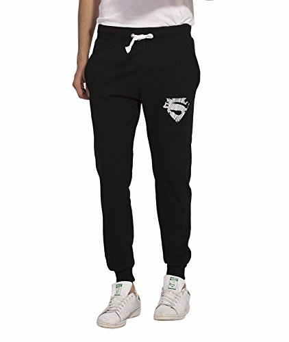 Alan Jones Clothing Men's Cotton Printed Joggers Black_Small