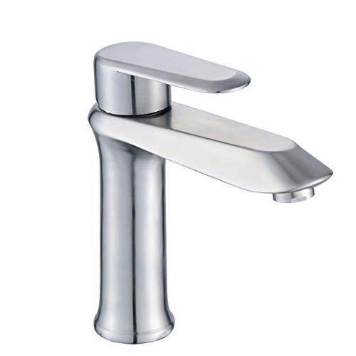Badezimmer Waschbecken 304 Edelstahl warm und kalt Badezimmer Badezimmer Waschbecken Haushalt Zeichentisch unter Becken Einloch-Hahn