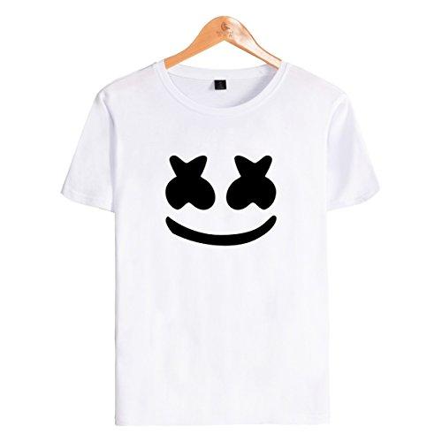 SIMYJOY Unisex Camiseta para DJ Marshmello Fanáticos de Sonido eléctrico  para Hombre Mujer Adolescentes 5208b93c1bb