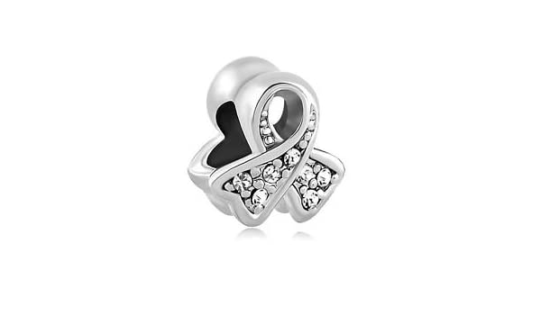 f8d1af8ac European Charm Bead Ribbon Cancer Awarenesss Clear Pugster Fits Pandora  (Lung Cancer): Amazon.co.uk: Kitchen & Home