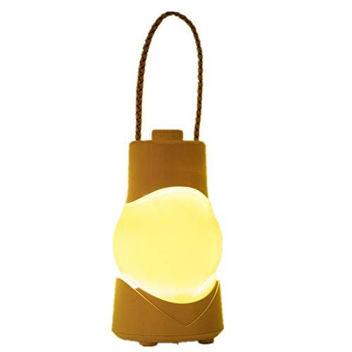 Nacht Lampe Outdoor LED Spieluhr Laterne USB Lade Tragbare Nachtlicht Als Camping Lichter Zelt Laterne Handheld Taschenlampe Nachttisch/Schreibtischlampe Notbeleuchtung,Yellow