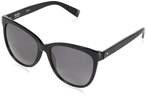 Max Mara Damen MM THIN VK 807 58 Sonnenbrille, Schwarz (BLACK/GREY SF),