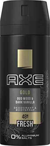 Axe Deospray Gold ohne Aluminiumsalze, 150 ml, 3er Pack (3 x 150 ml)