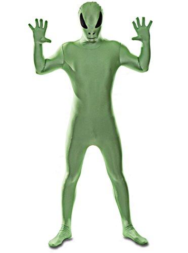 Luxus-Ausgabe: Grün AuslŠnder Lycra Catsuit von Stretchy Suits (Männer: (Kostüm Halloween Spaceman)