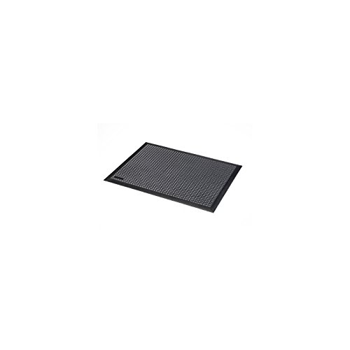 Notrax Arbeitsplatzmatte, Naturgummi ESD, genoppt - schwarz - LxBxH 900 x 600 x 13 mm - Arbeitsplatzmatte Arbeitsplatzmatten Bodenbelag Bodenmatte Gummimatte Sicherheitsmatte -