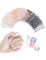 Design Nagel Sticker selbstklebende Aufkleber Tattoo Abziehbilder DIY Nail Art Dekoration/Phone Case/Karten Deko ()