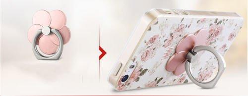 """Apple iPhone Hülle Ultra Slim Case weiche TPU Silikon Schutzhülle Kreativität 3D Malerei Handyschale Back Cover inkl. Halterung (iPhone 6/6s 4,7"""", Pfingstrosen) Eiffelturm"""