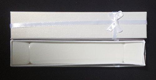 12 scatoline RETTANGOLARI bracciali collane BIANCO braccialetti (Rettangolare Bracciali)