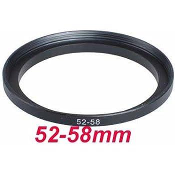 Adaptateur Filtre 52mm-58mm Step-Up (Lens pour filtre),Bague d'adaptation 52-58mm,Bague Métal Mesuré en haut Set, Métal Noir Anodisé