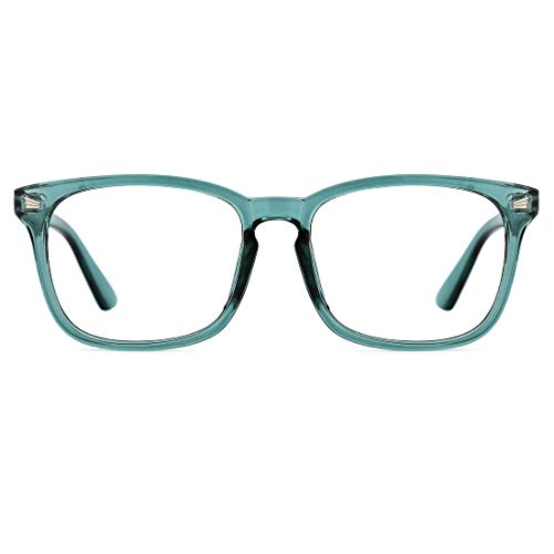 c4ef72a9b2 TIJN Blue Light Blocking Glasses Square Nerd Computer Gaming Glasses anti  Eye Stain for Women and